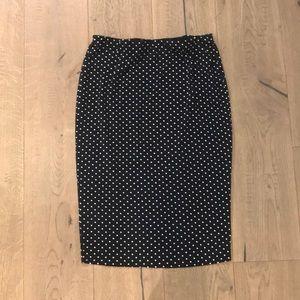 Vince Camuto Polka Dot Pencil/Tube Skirt